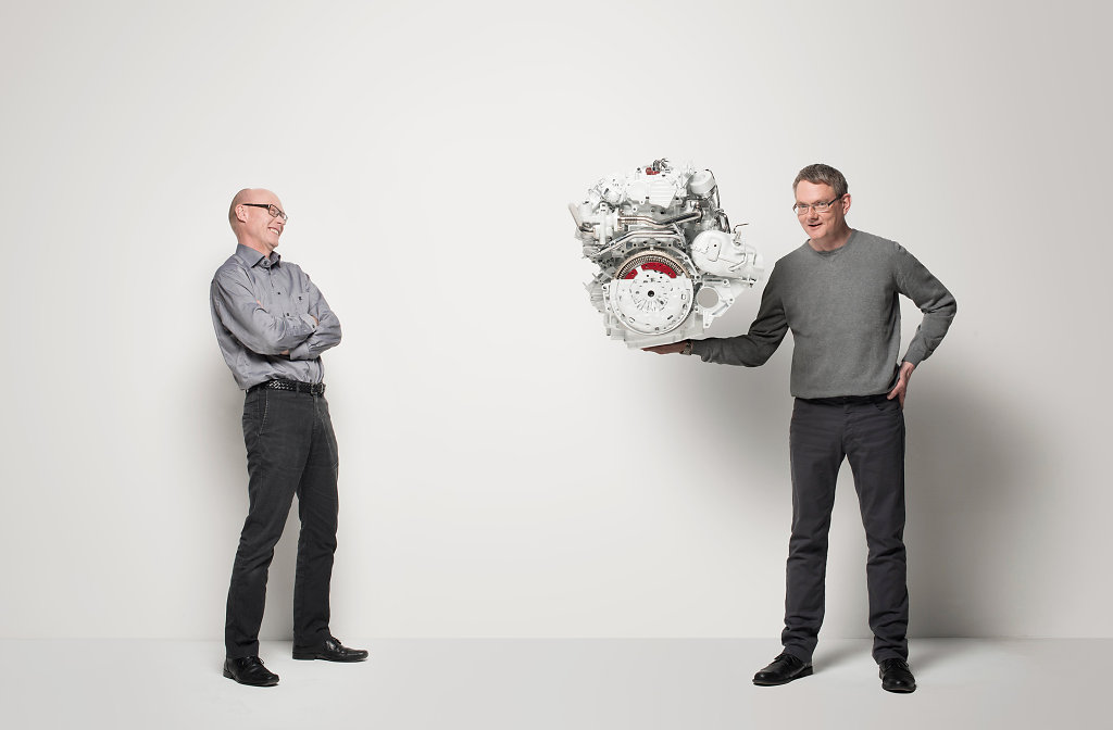 Jorgen Brynne, Anders Agfors and the new XC90 engine, Gothenburg