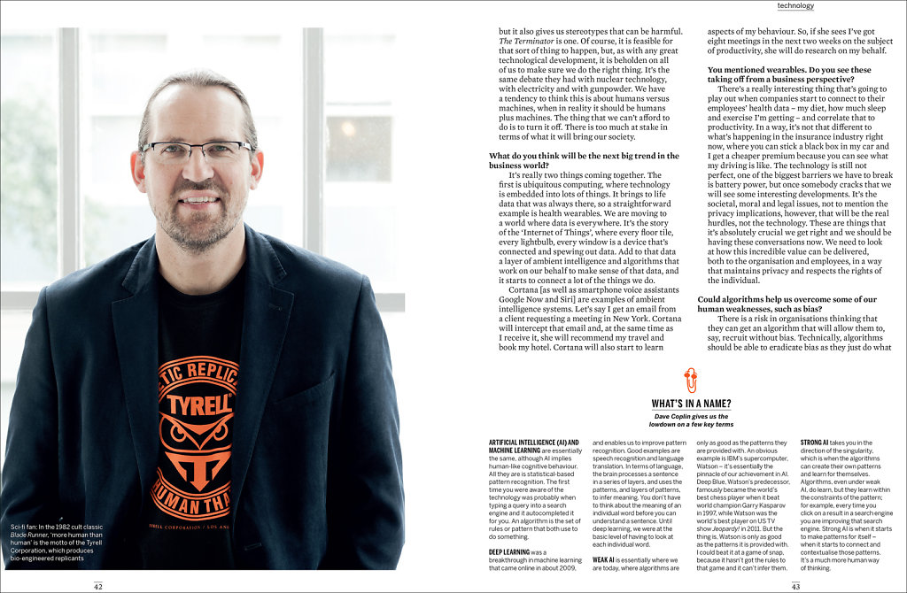 Dave Coplin, Chief Envisioning Officer for Microsoft, Work Magazine #2