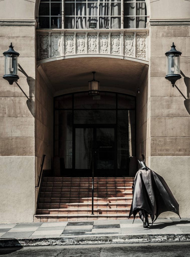 Batman, (aka Marty) Hotel Roosevelt, Hollywood for 'American Busker'
