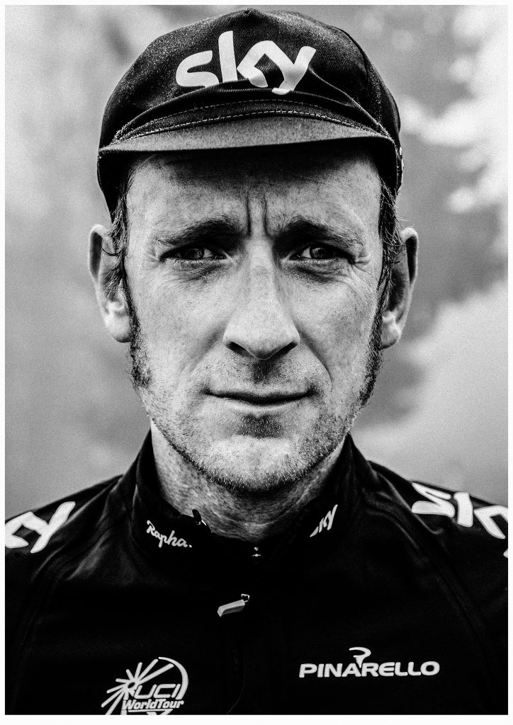 Bradley Wiggins, Dolomites, Italy, for High Life Magazine