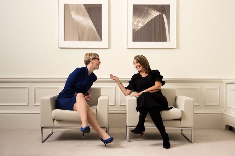 Emma Walmsley, CEO of GSK and Carolyn McCall, CEO of ITV