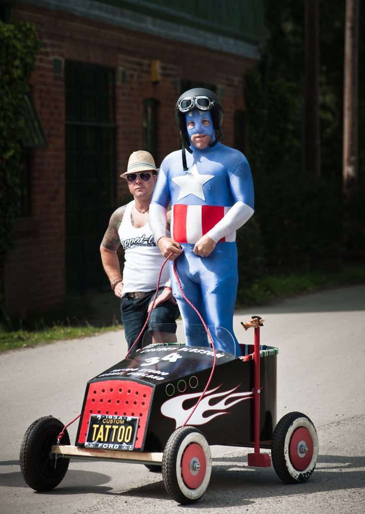 Captain America and The Soap Box Derby, Hotrod Hayride, Bisley