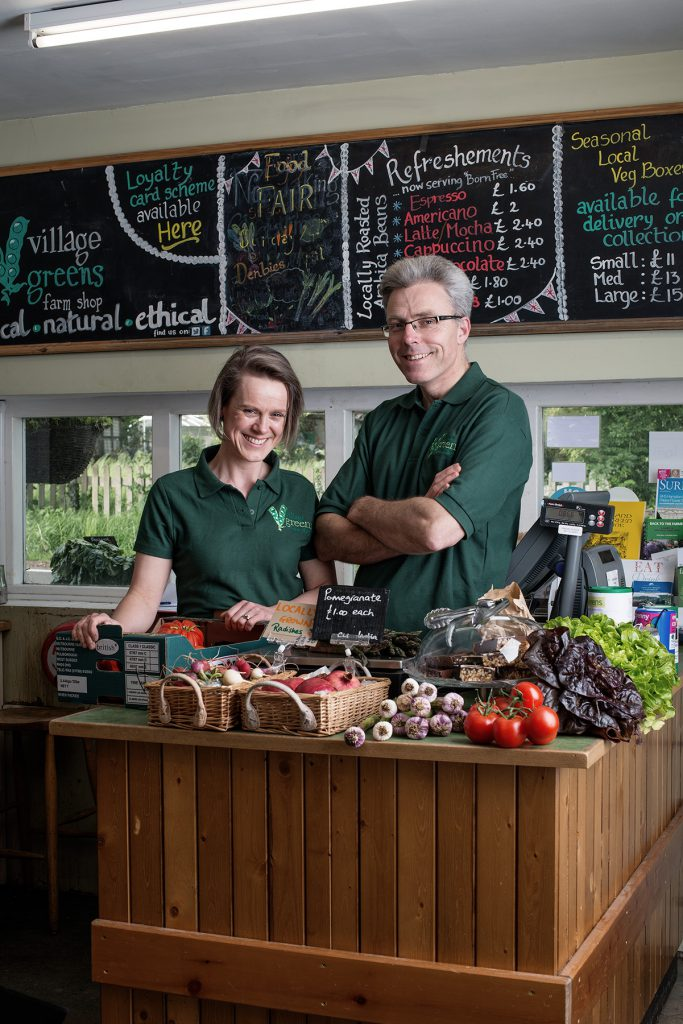 Catherine & James Dampier photographed at Village Greens