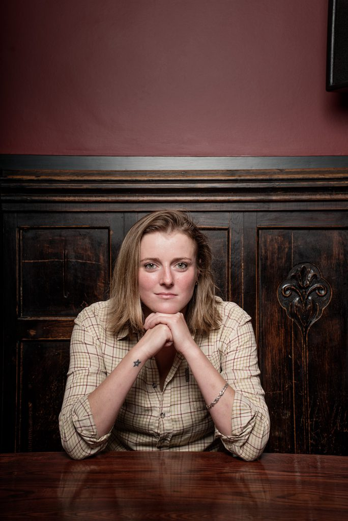Claudia Webb photographed in The Star pub