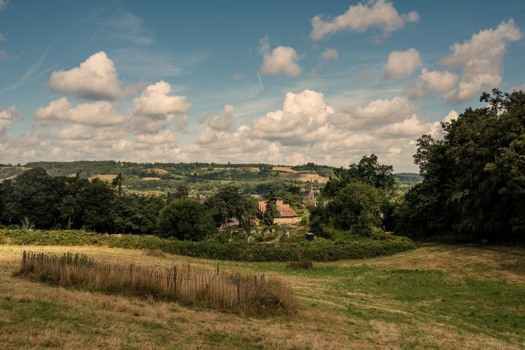 View of Dorking over St Pauls Allotments