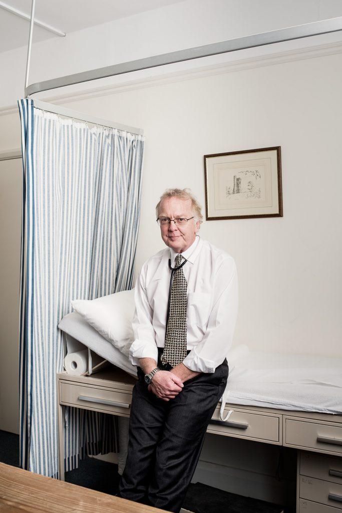Dr Graham Blockey photographed at his surgery