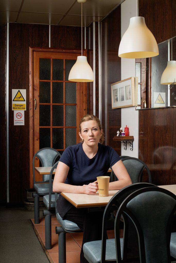 Emma Hill photographed at Superdish Restaurant