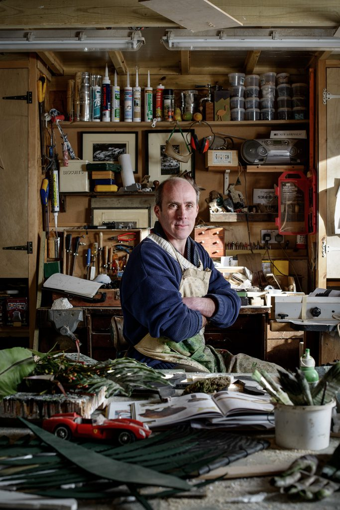 Ethan Bishop photographed in his workshop