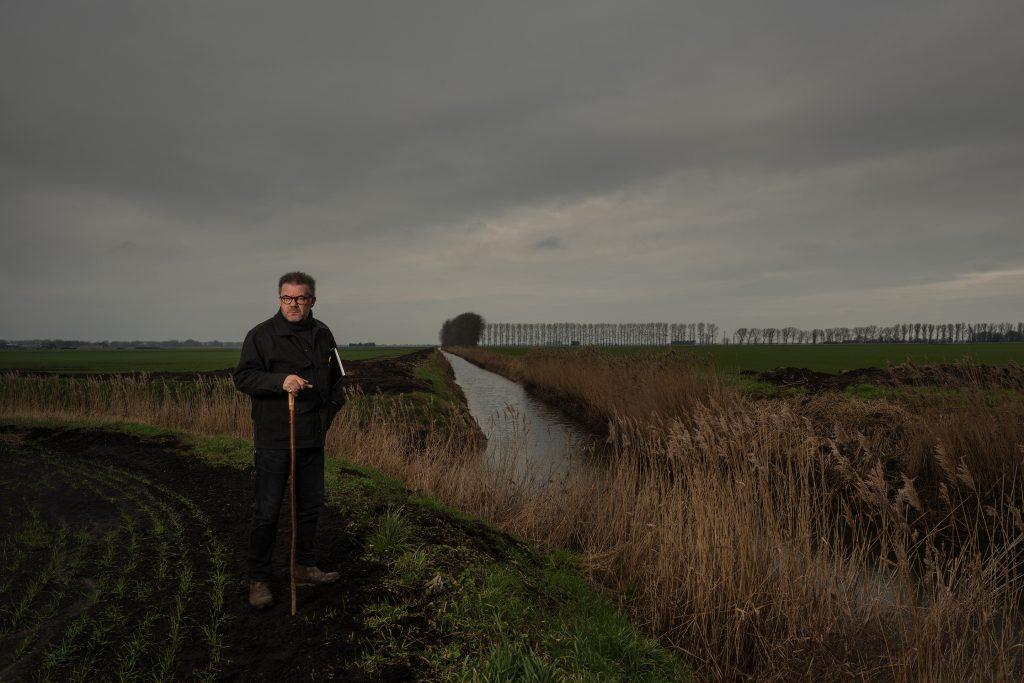 Fred Ingrams, Landscape Painter, Fodderfen Drove, The Fens, Norfolk