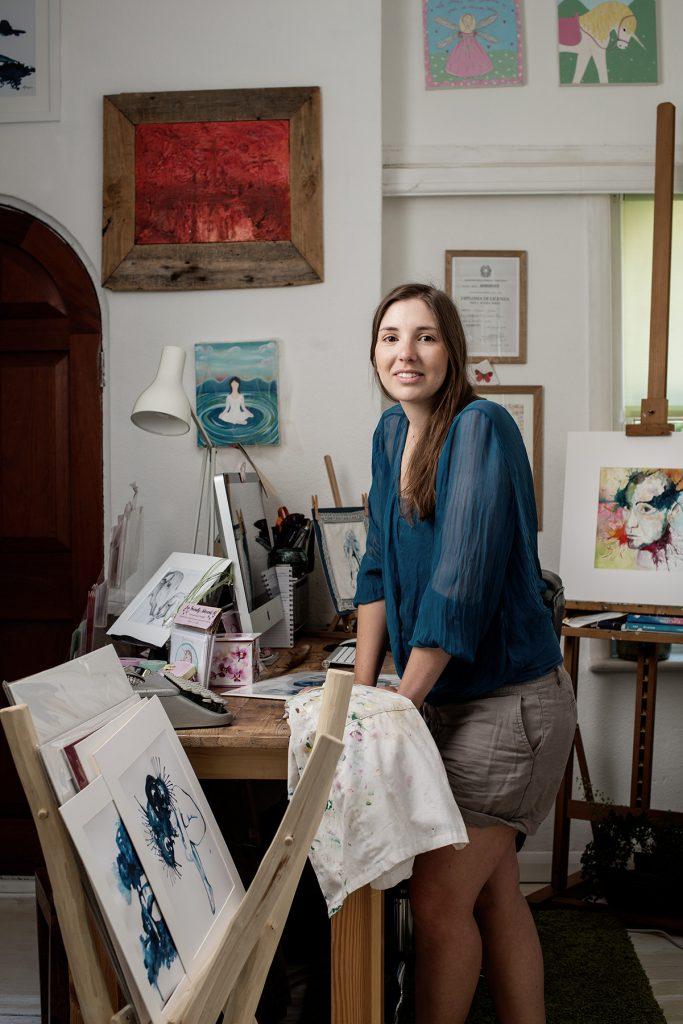 Giulia Mauri photographed in her studio