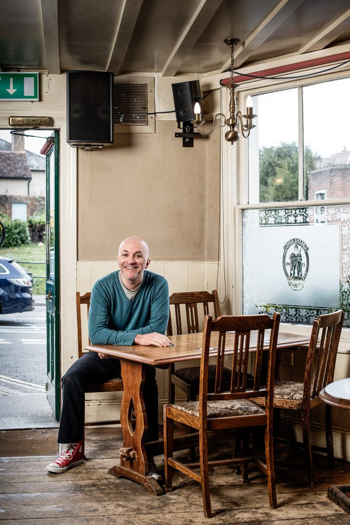 Ian Renshaw photographed in The Star pub