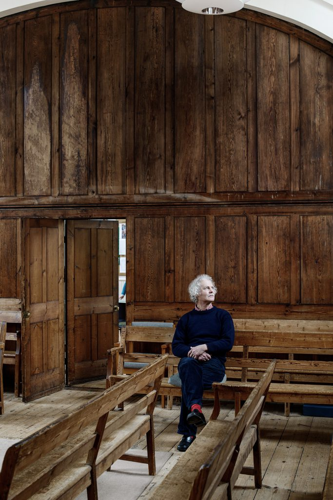 Jan Elias photographed at The Friends Meeting House