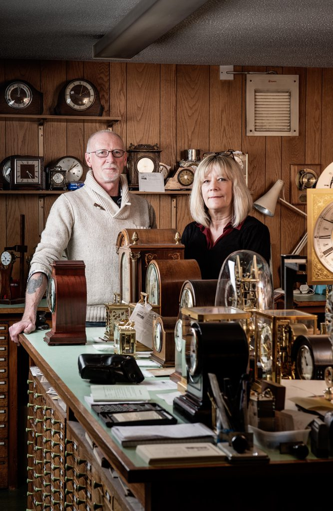 Simon and Janet Danckwerts photographed in their workshop