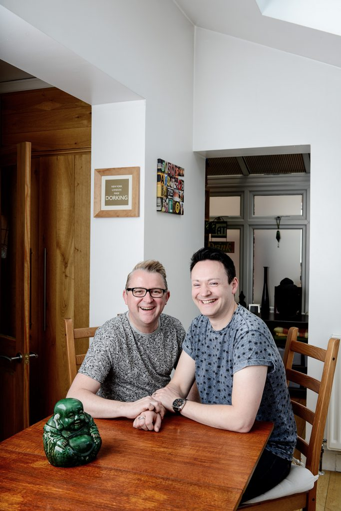 Jason Brett and Rob Chadbank photographed in their home