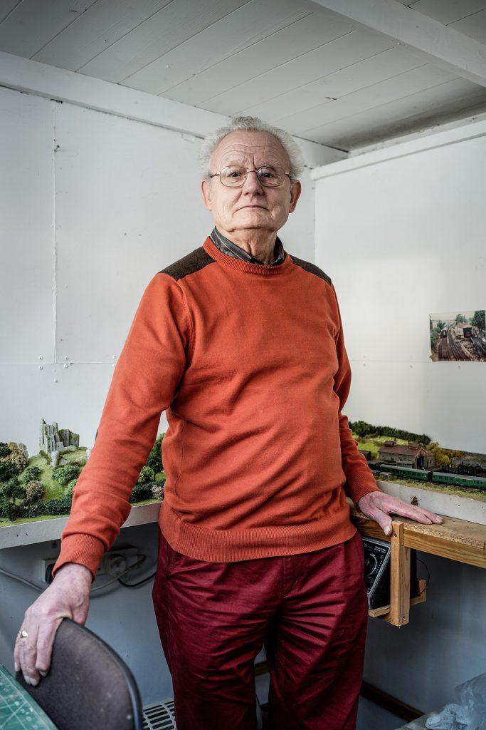 John Botting photographed at his home