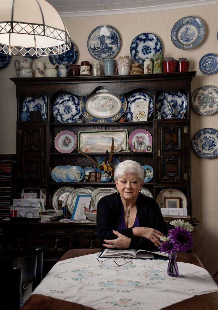 June Spong photographed at her home