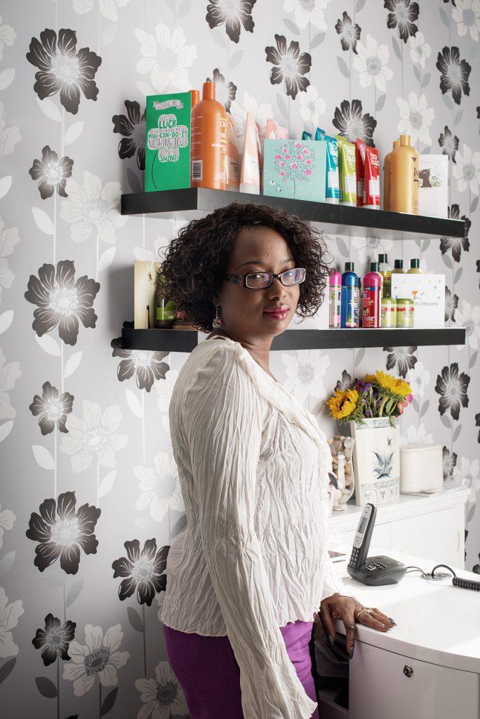 Lorraine Jepson photographed in her salon