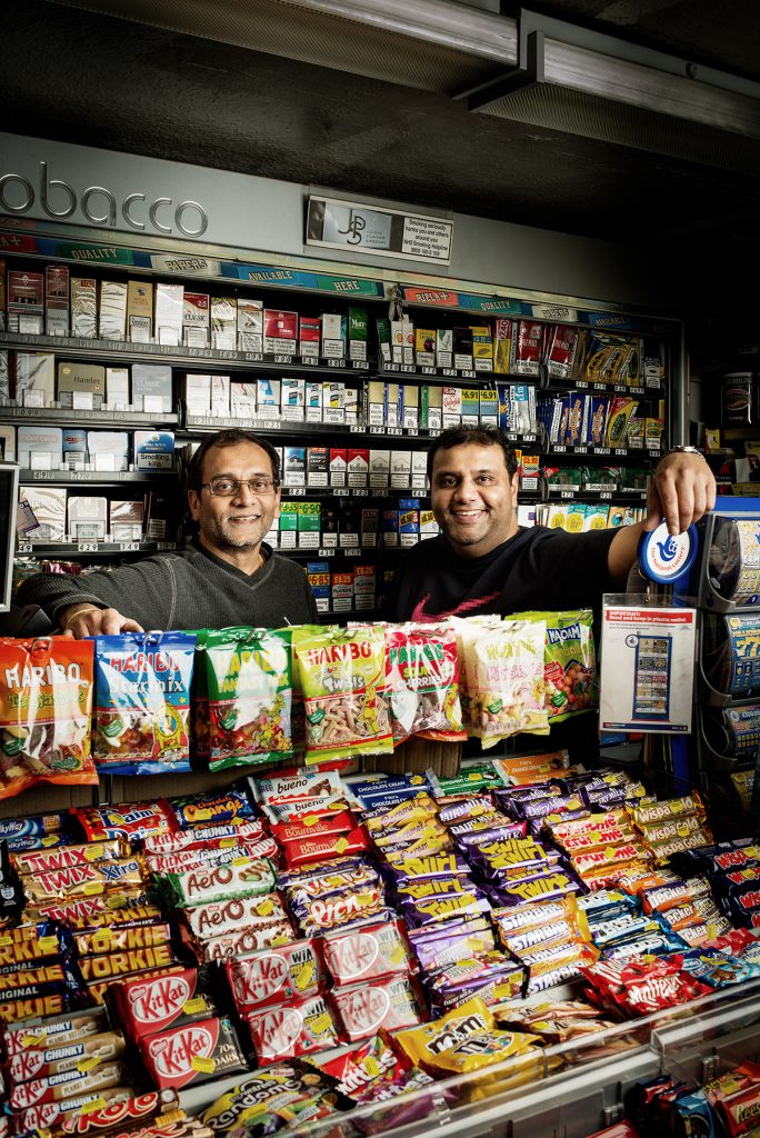 Mahesh and Raj Amin photographed in their shop