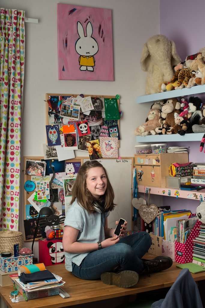 Martha Shaylor photographed at home