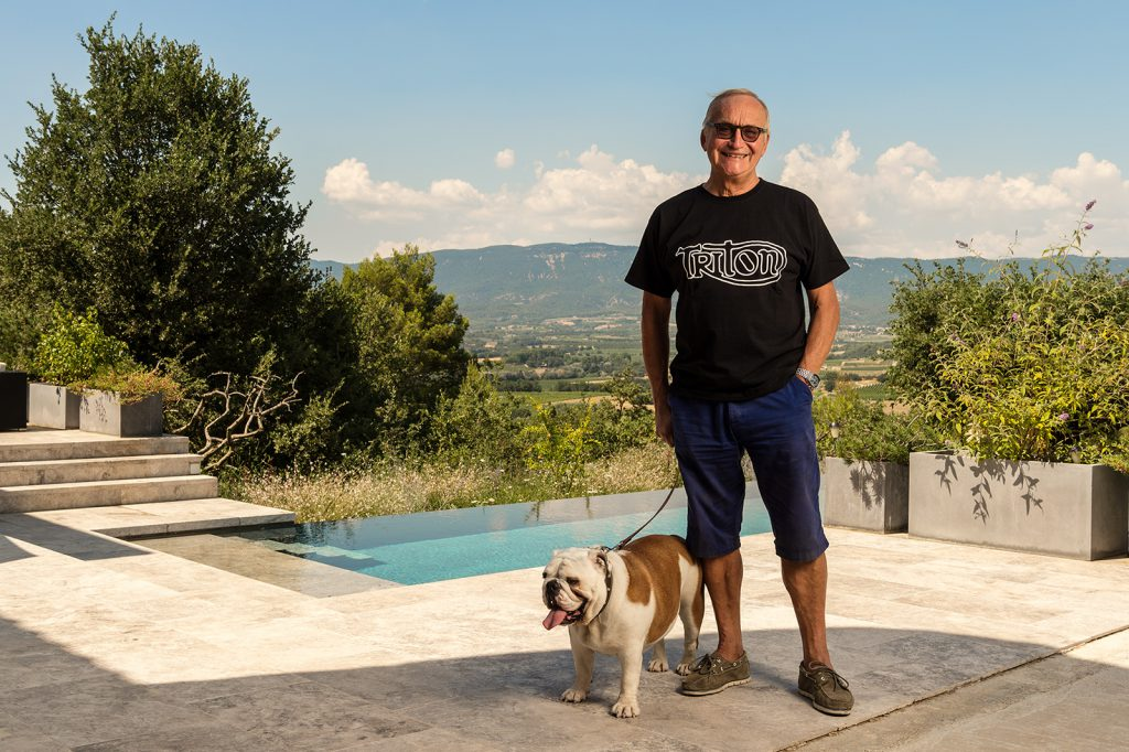 Car designer Martin Smith (and Bessie), Provence, for Car Design Review 06.