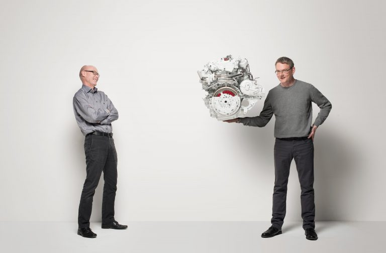 Jörgen Brynne and Anders Agfors with Powertrain for XC90 Magazine