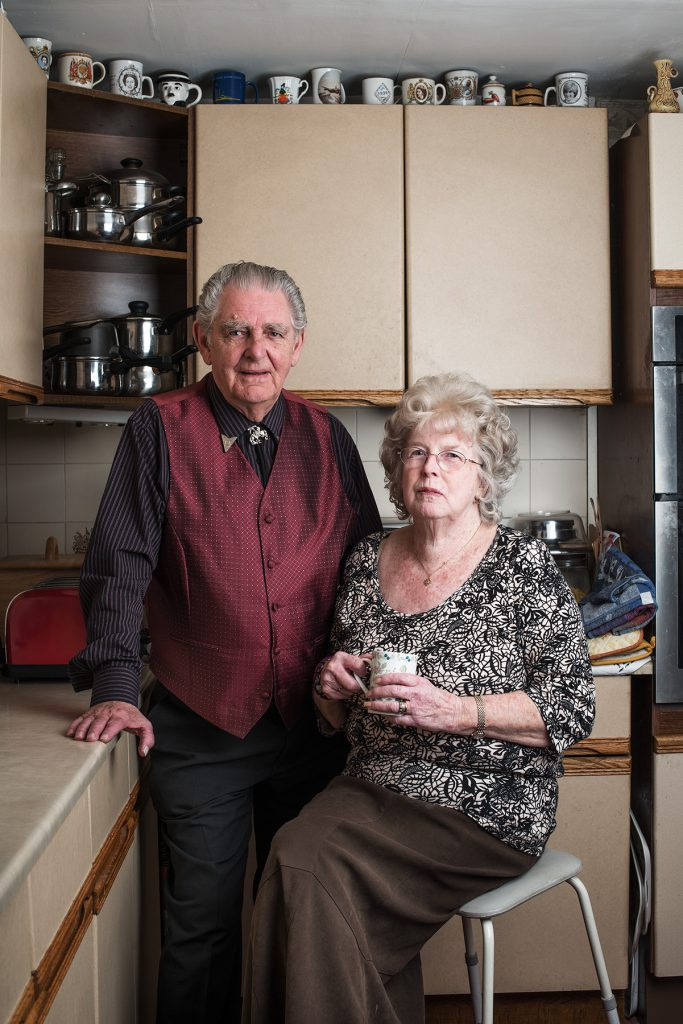 Mick and Sheila Cope photographed in their home