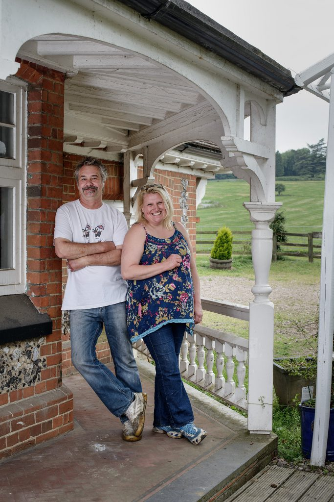 Neil and Michaela Allum photographed at Norbury Park Farm
