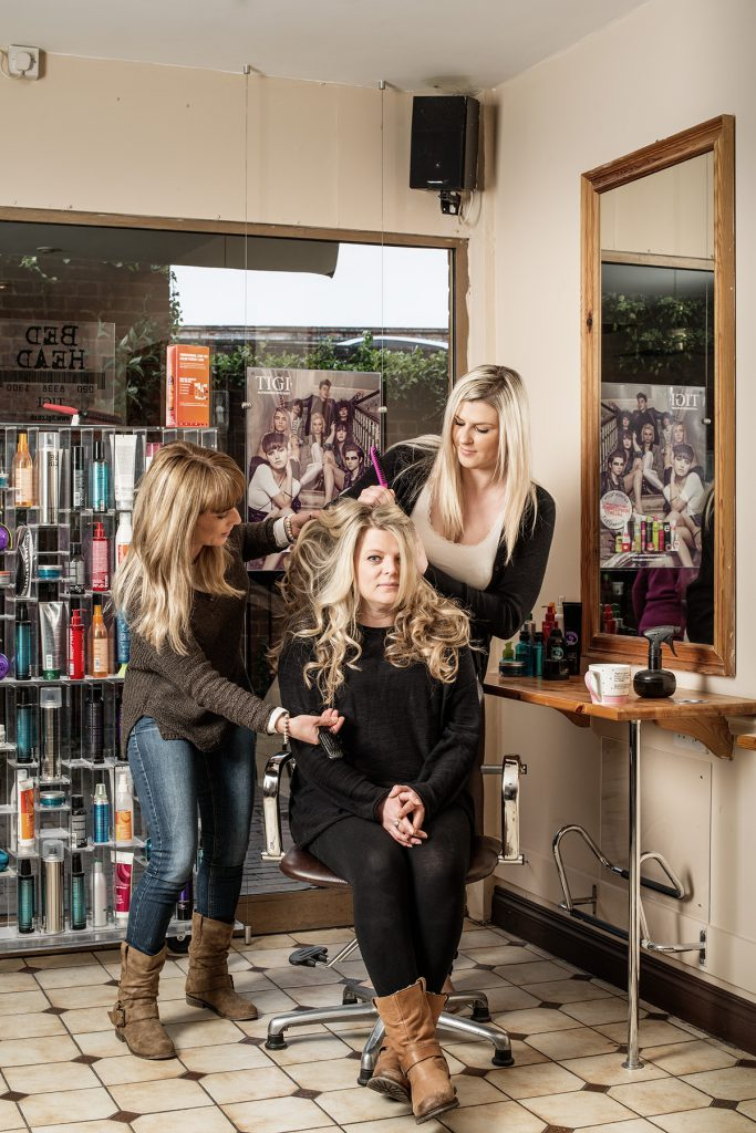 Polly, Ann and Abi photographed at Santrillos Hair Design