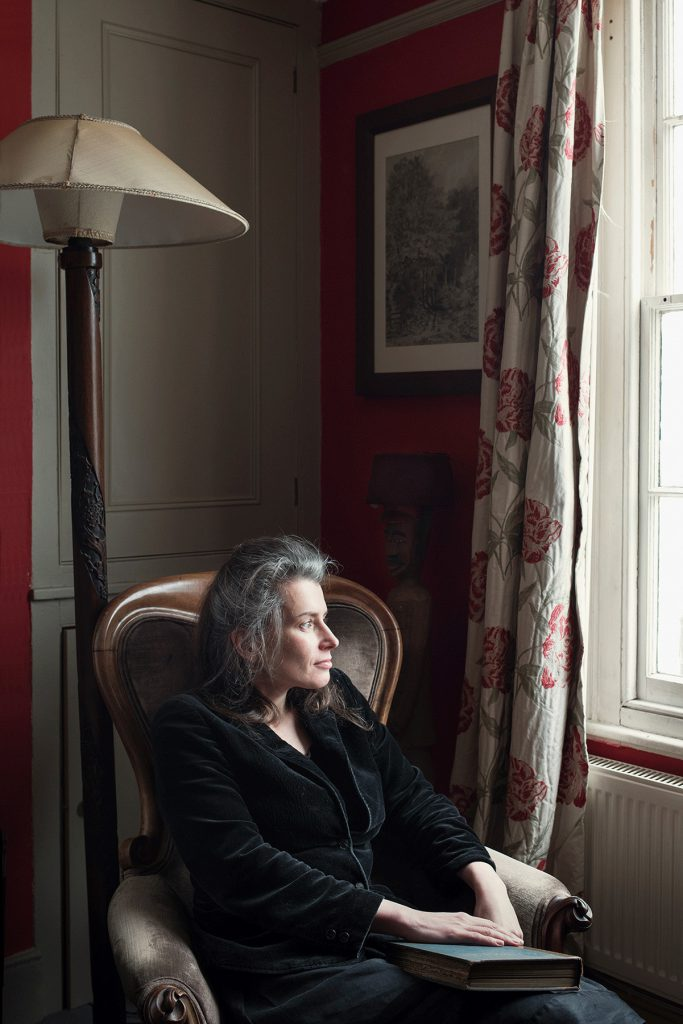 Susan Hill photographed in her home