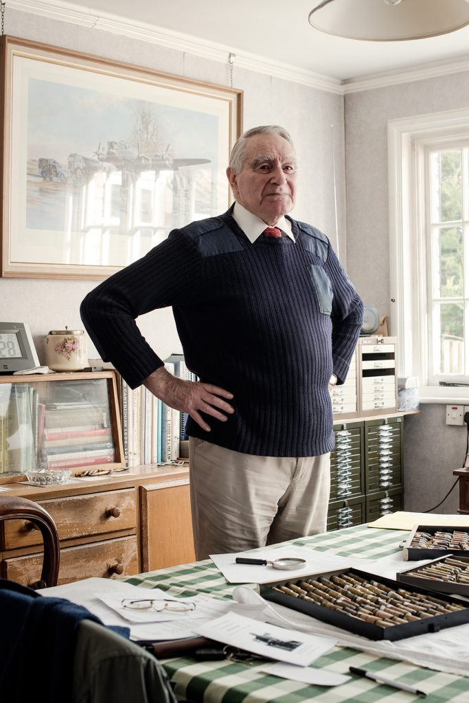 Ted Molyneaux photographed in his home