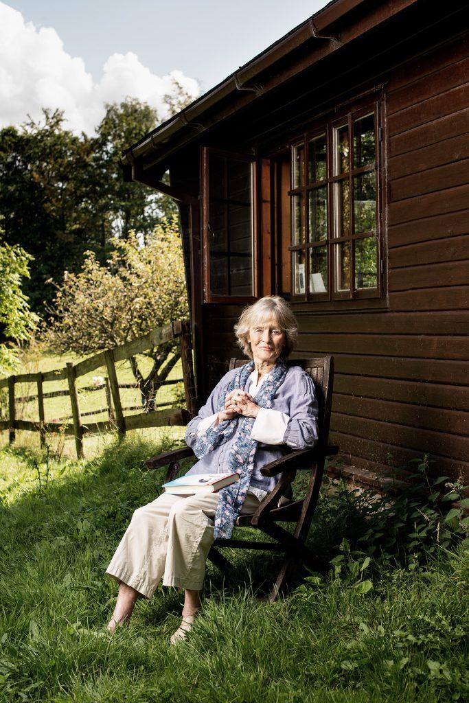 Virgina Travers photographed in her garden