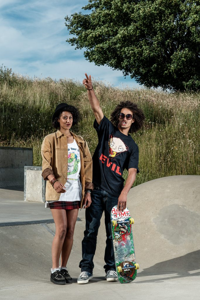 Yola and Ollie Thorp photographed at Meadowbank