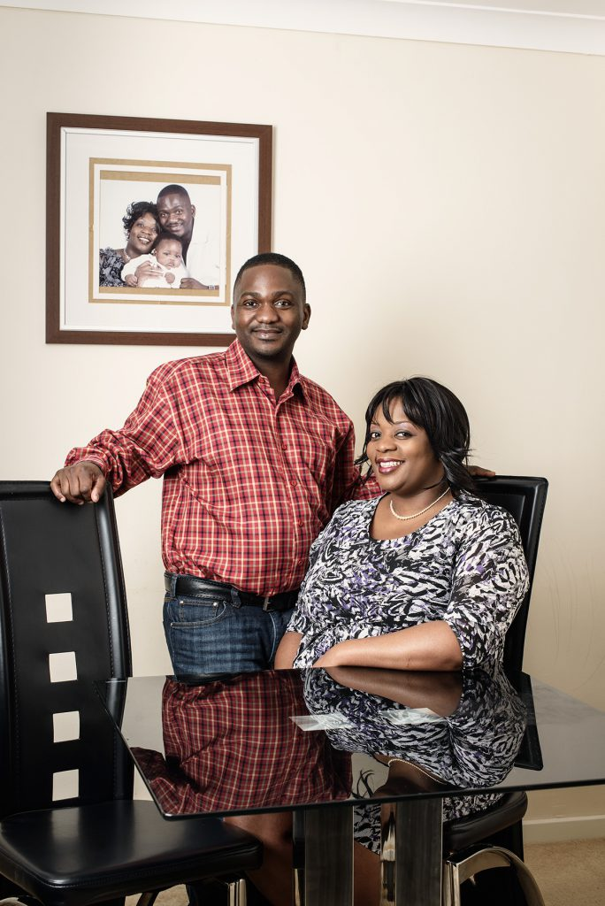 Zenith And Annie Mbanje photographed in their home